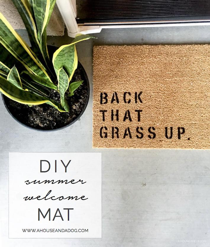 DIY Summer Welcome Mat | ahouseandadog.com