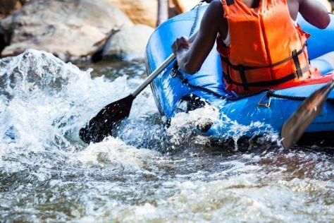 Rafting down Bhote Kosi, Kosh River in Nepal