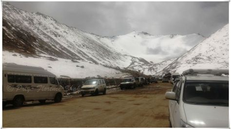 At Chang-La Pass, the second-highest motorable road in the world