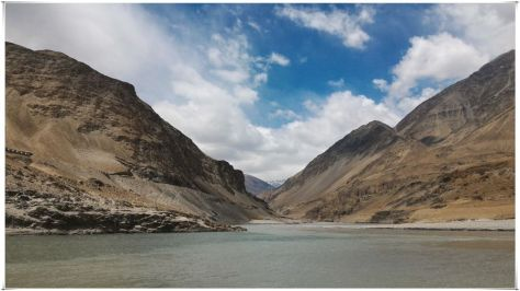 Confluence of the Zanskar and Indus Rivers