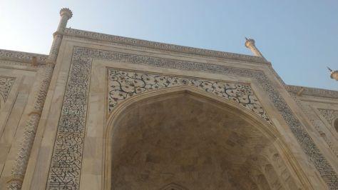 Exquisite relief carvings (munabbat kari) on the arches