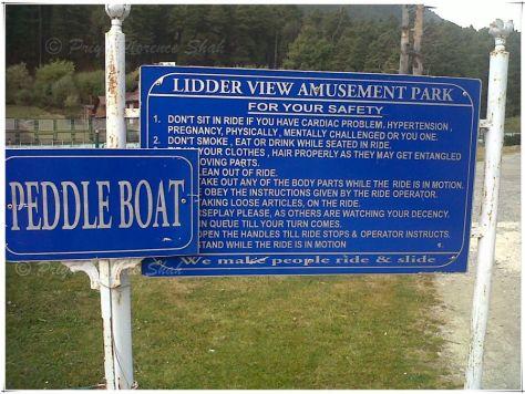 Lidder View Amusement Park - peddle what?
