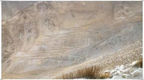 Long, winding roads climbing up the mountains