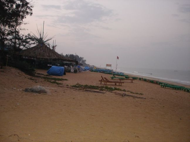 Early morning on Baga Beach