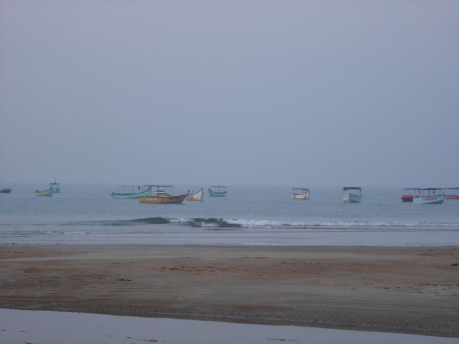 Fishing boats anchored in the bay