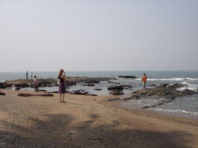 The rocks at Anjuna beach