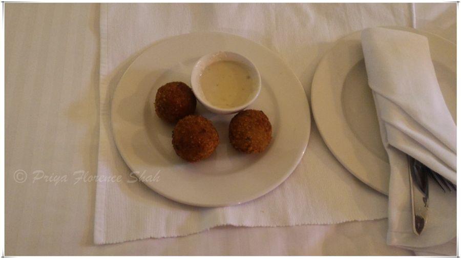 The saffron arancini was tasty but not mind-blowing