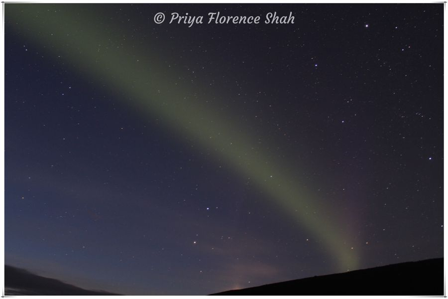 My first attempts at photographing the Northern Lights