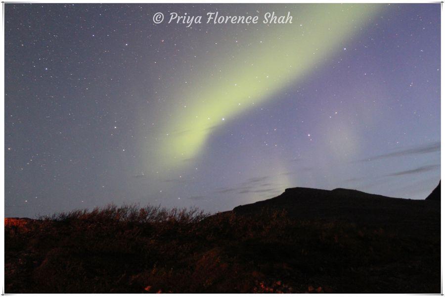 The Northern Lights in early September near Tromsø