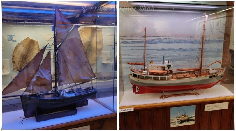 Models of the ships that sailed from Tromsø