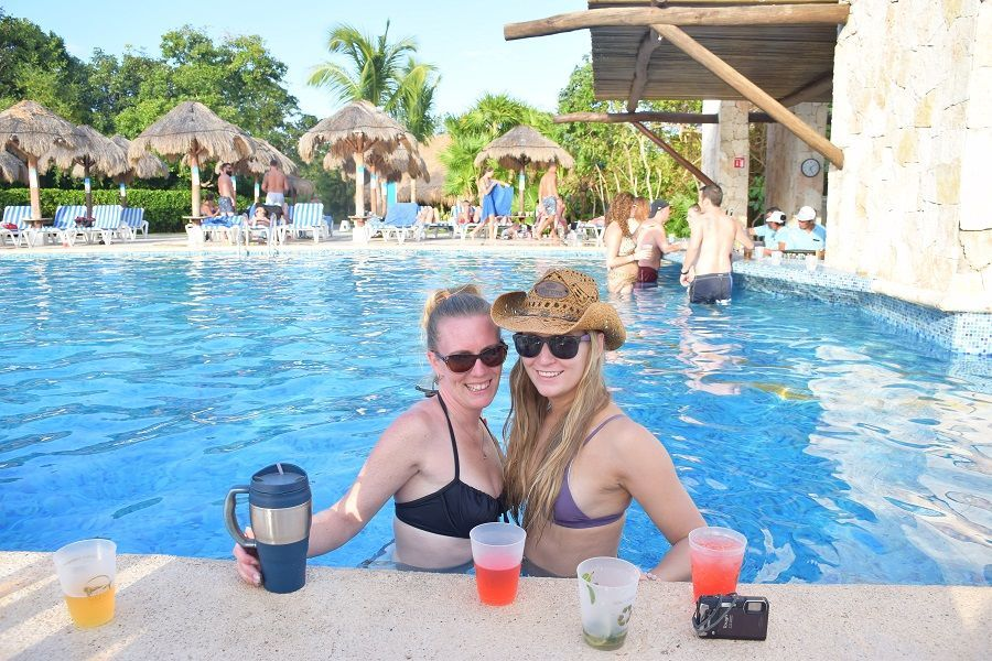 drinks at the pool