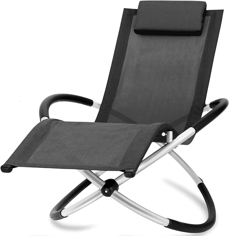 bc elec hmbl 04 black chaise longue noire relax de jardin chaise de jardin rocking chair resistant aux intemperies max 180kg