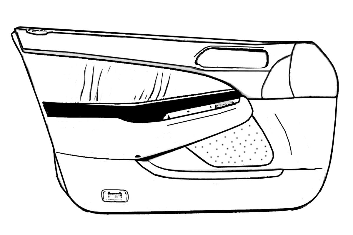 Buy 1999 Honda Prelude Door trim / liner Front passenger