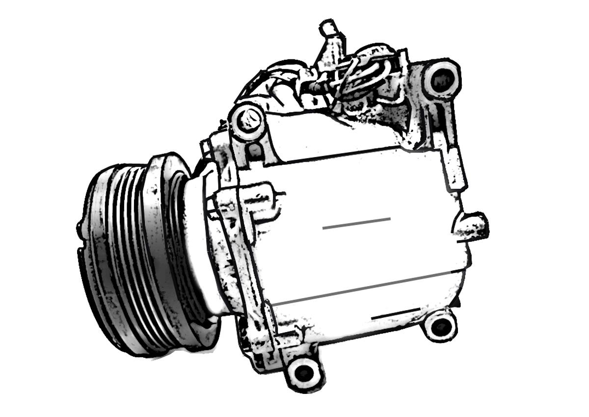 Honda Civic Clutch Ac Pump Air Compressor Hatch