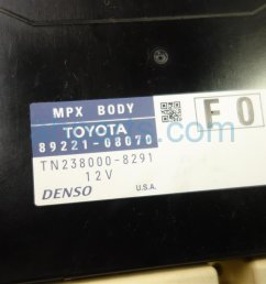 2011 toyota sienna dash fuse box with multiplex 82730 08090 replacement  [ 1200 x 800 Pixel ]