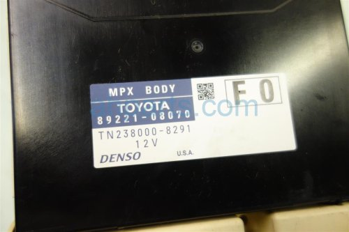 small resolution of 2011 toyota sienna dash fuse box with multiplex 82730 08090 replacement