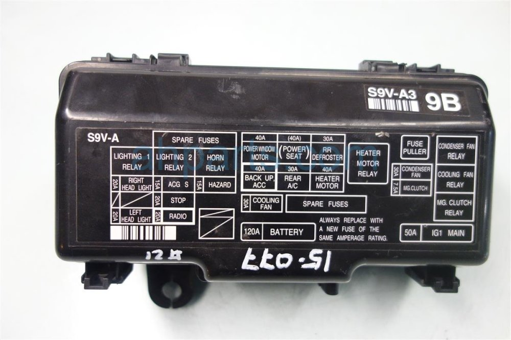 medium resolution of 2007 honda pilot engine fuse box 38250 s9v a32