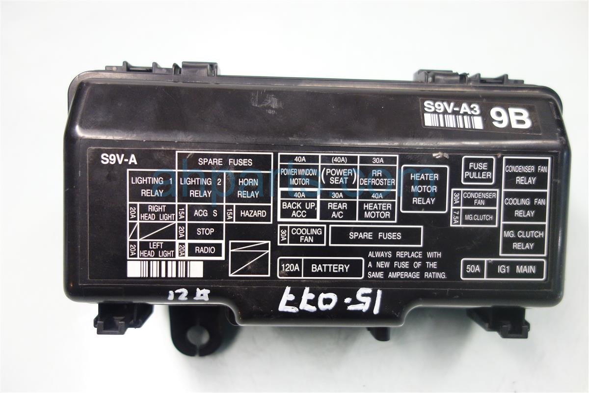 hight resolution of 2007 honda pilot engine fuse box 38250 s9v a32