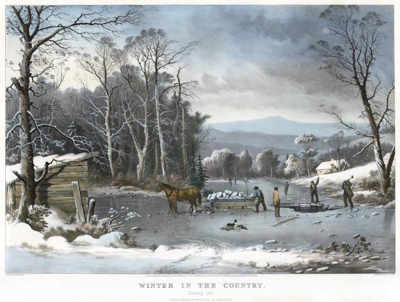 Currier & Ives, Winter in the Country - Getting Ice