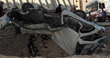 وفاة رضيع وإصابة والديه وشقيقه فى حادث انقلاب سيارة بالشرقية