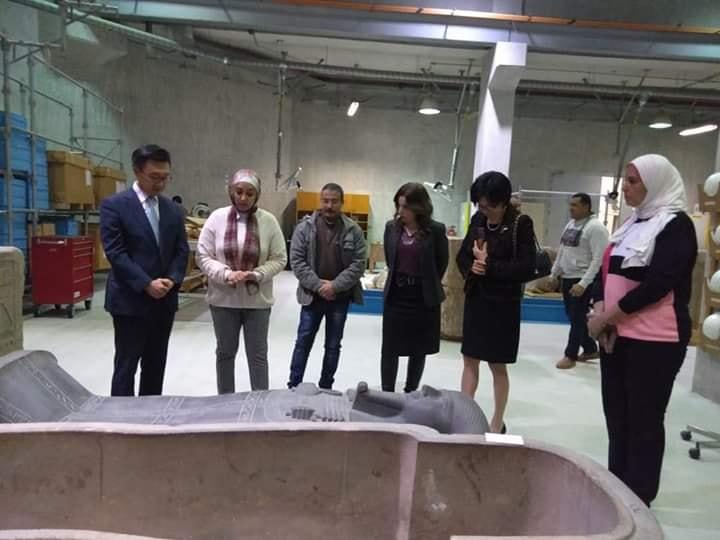 زيارة سفير كوريا الجنوبية بالقاهرة للمتحف المصري الكبير