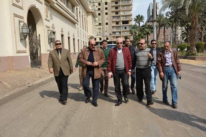 محافظ الجيزة يتفقد أعمال تطوير شارع مصر 306 بالدقى