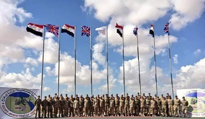 بدء تدريب أحمس 2019 المشترك بين مصر و بريطانيا فى قاعدة محمد نجيب العسكرية