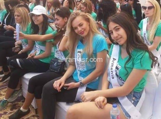 معسكر بيئى لملكات جمال العالم بمحمية المانجروف بسفاجا