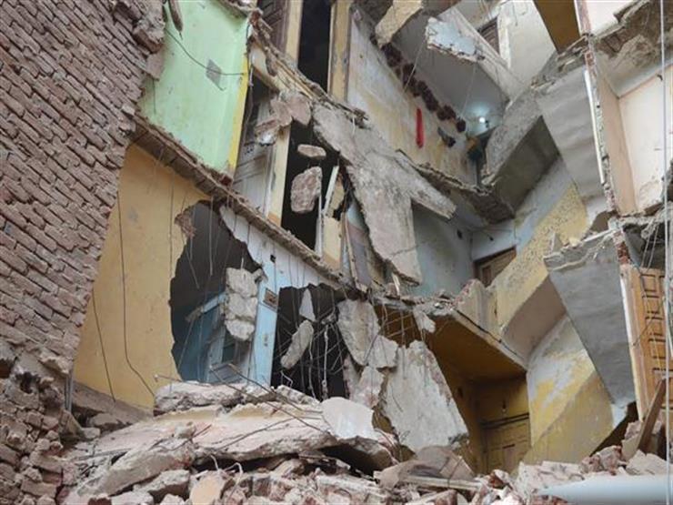 انهيار جزئي بمنزل من 3 طوابق دون خسائر بالأرواح بسوهاج