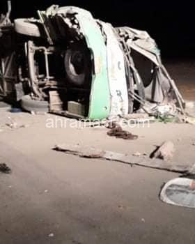 مصرع 4 أشخاص وإصابة 46 حصيلة ضحايا أتوبيس طريق أبوسمبل بأسوان