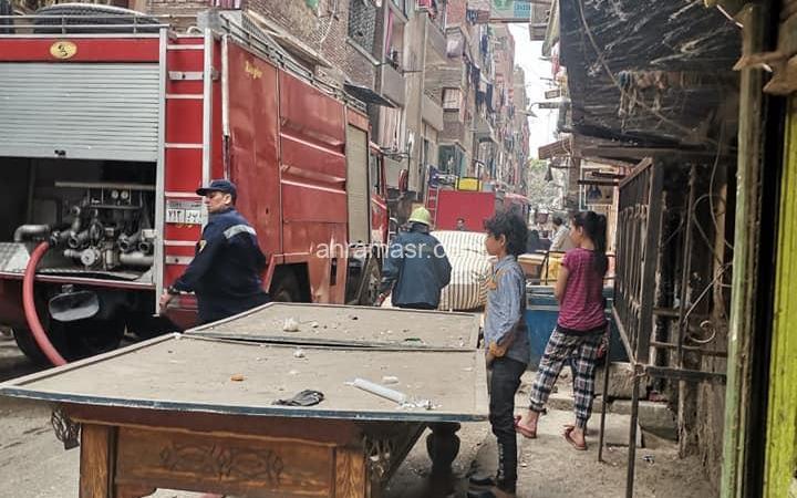 حريق هائل فى منطقة منشية بور سعيد بالزاوية الحمراء كتبت : منى حـــمّاد