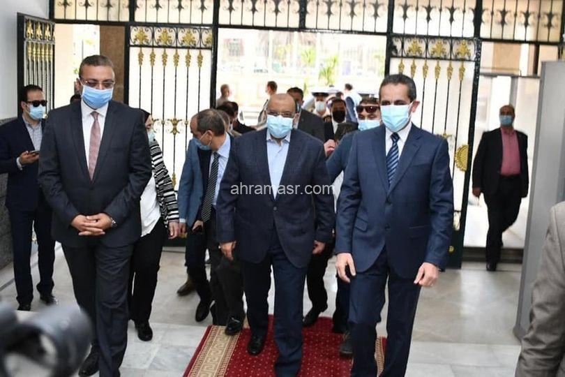 وزير التنمية المحلية يصل الي مقر محافظة الغربية لتفقد بعض المشروعات