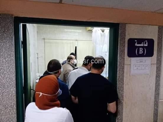 خلال جولة ليلية نائب محافظ الجيزة يتفقد مستشفي الوراق المركزي