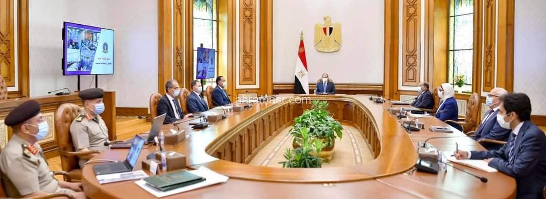 """السيد الرئيس يتابع الموقف التنفيذي لإنشاء """"الشبكة الوطنية الموحدة للطوارئ والسلامة العامة ببورسعيد"""