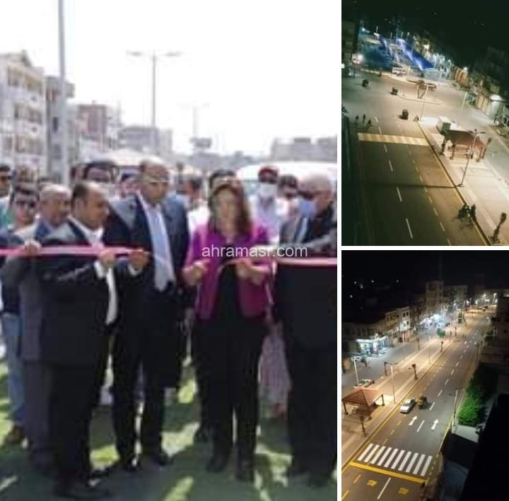 محافظ دمياط تفتتح طريق ١٨ وموقف سيارات الأجرة بمدينة ميت أبو غالب