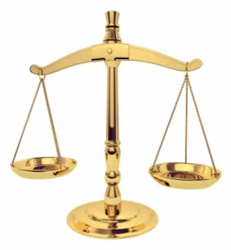 Tipping the scales of justice.