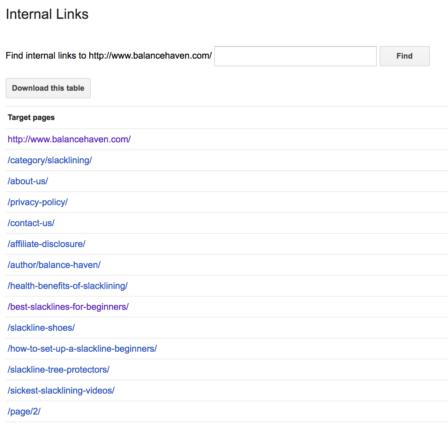 GSC Internal Link Download