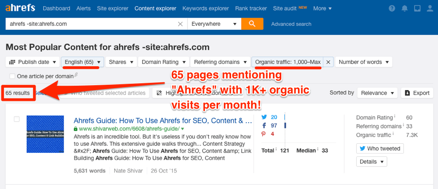 ahrefs branded search content explorer