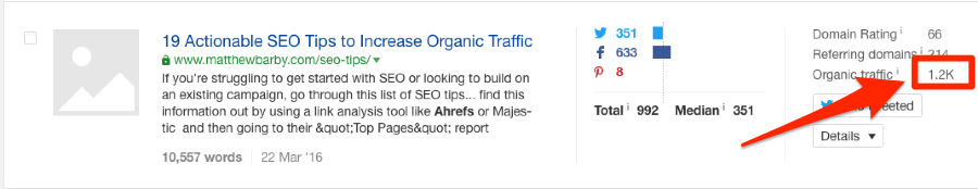 matthew barby article content explorer traffic