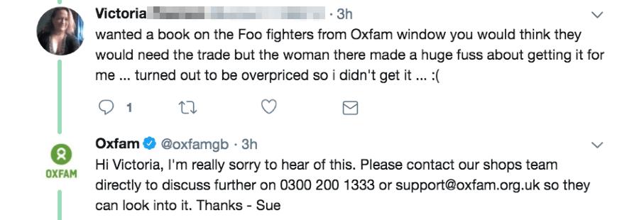 oxfam twitter conversation
