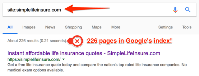 site search google simple life insure