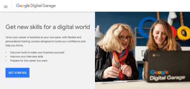 cours de garage numérique google