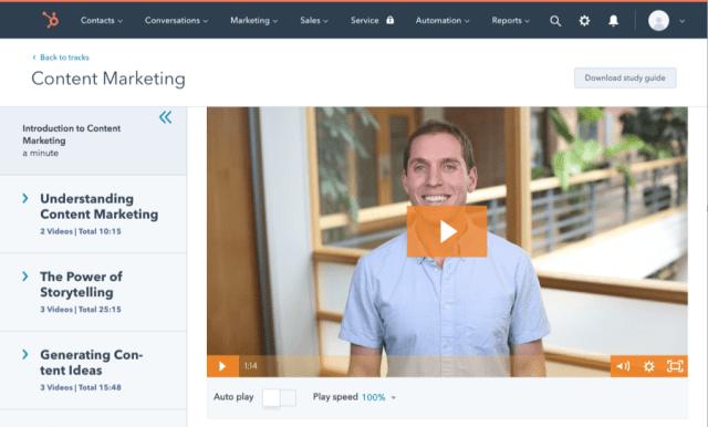 hubspot marketing de contenu