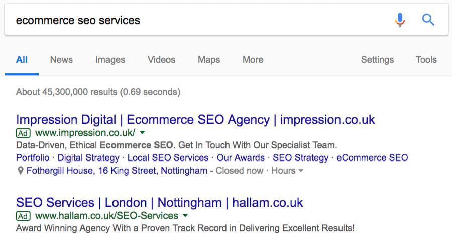 servicios de SEO de comercio electrónico