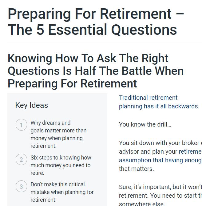 retirement planning blog post overachiever