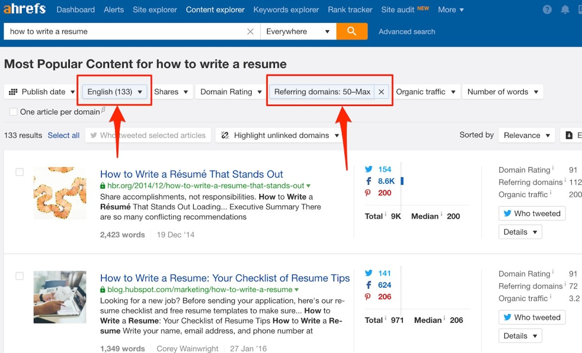 how to write a resume content explorer 1