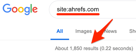 Site URL Index Search Issues