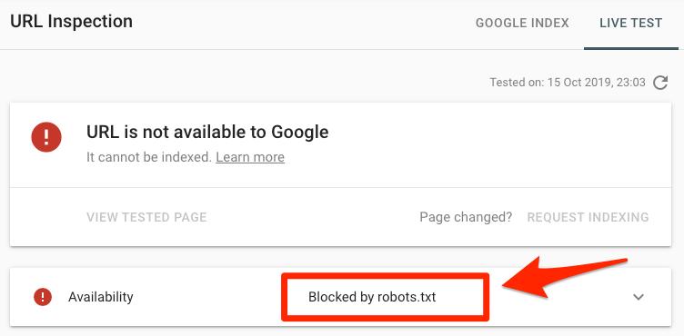 блокиран от роботи txt 7
