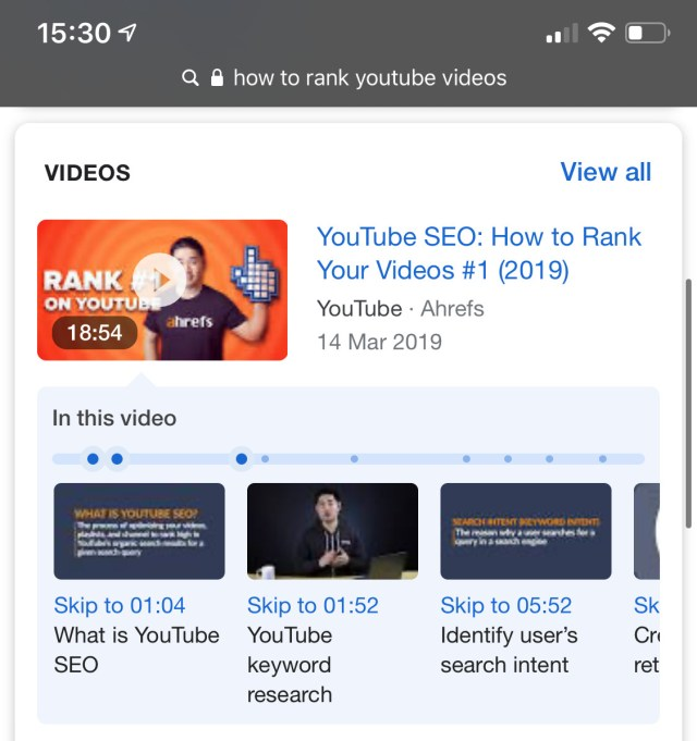 how to rank youtube videos timestamps 1