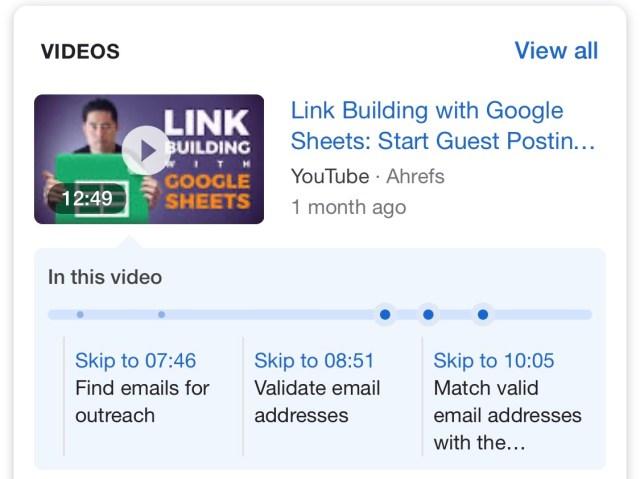 timestamp results link building google sheets 1